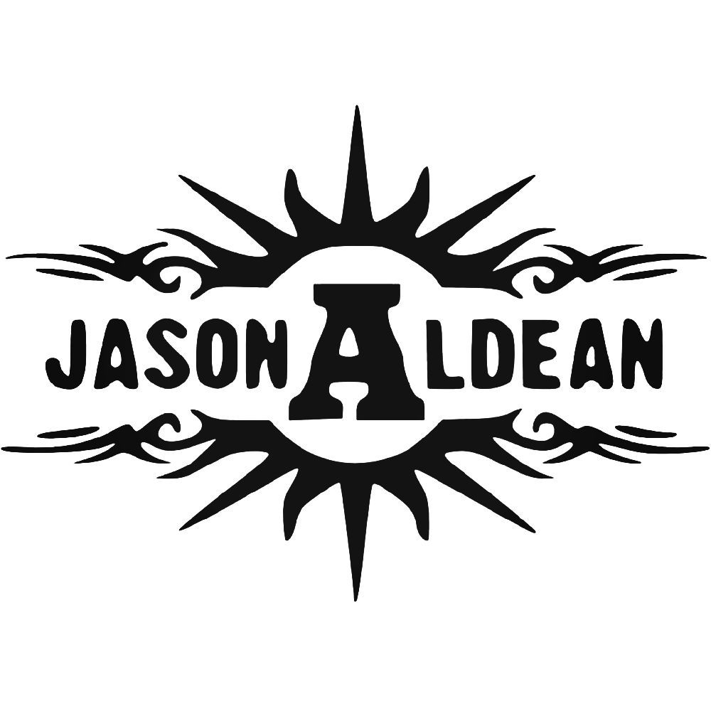 Jason Aldean Band Logo Vinyl Decal Sticker Aftermarket