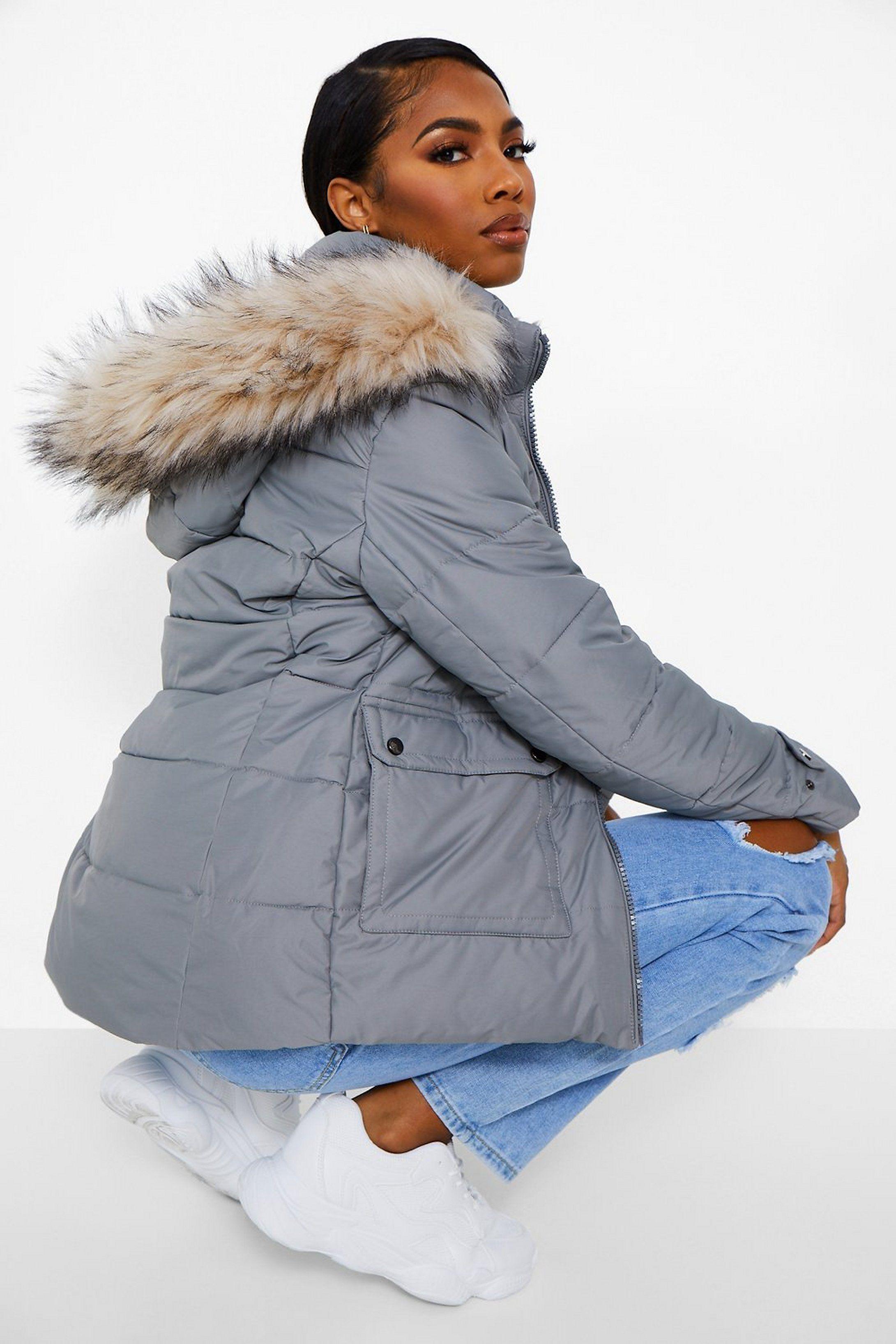 Faux Fur Lined Puffer Jacket Boohoo Faux Fur Puffer Jacket Puffer Jackets Jackets [ 3272 x 2181 Pixel ]