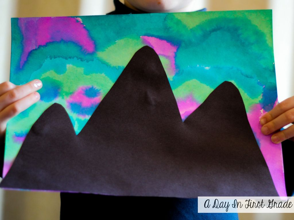 How To Paint The Northern Lights A Day In First Grade