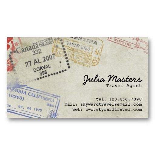 Passport stamps travel agent business cards exceptional business passport stamps travel agent business cards colourmoves