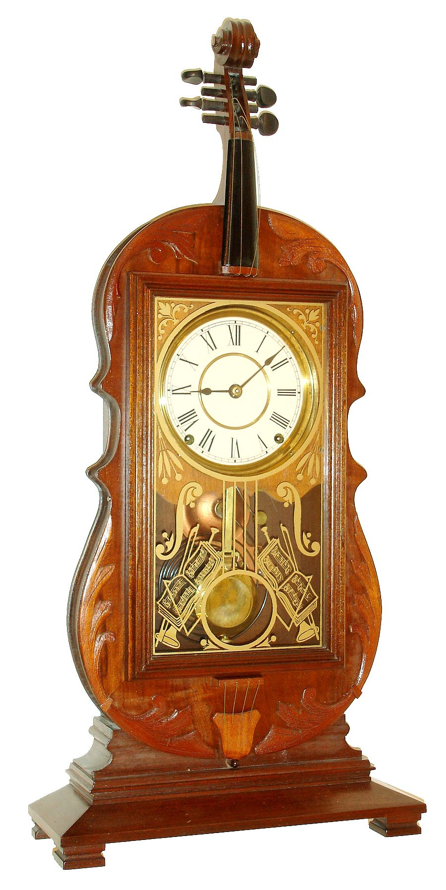 Swedish Clock Reproduction Reproduction Seth Thomas Violin Mantel Clock 8 Days Time And