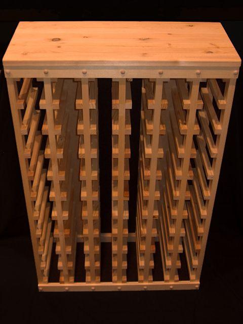 60bottle wooden wine rack