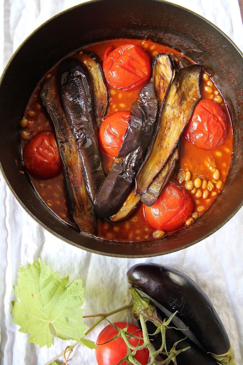 Khoresht E Bademjan Persischer Lamm Auberginen Eintopf Mit Verjus Labsalliebe Persische Gerichte Persische Rezepte Persisches Essen