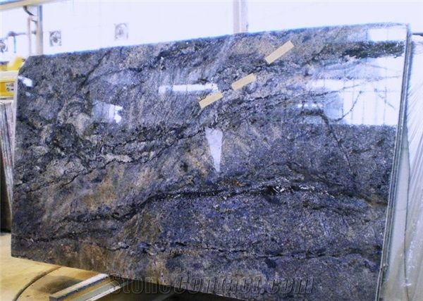 Azul Bahia Granite Slabs Brazil Blue Granite Boys Bath