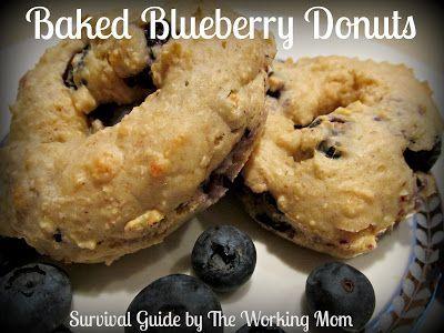 Baked Blueberry Doughnut Recipe #recipe