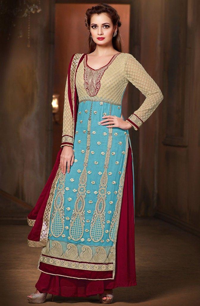 Dia Mirza Stani Wedding Wear Salwar Kameez