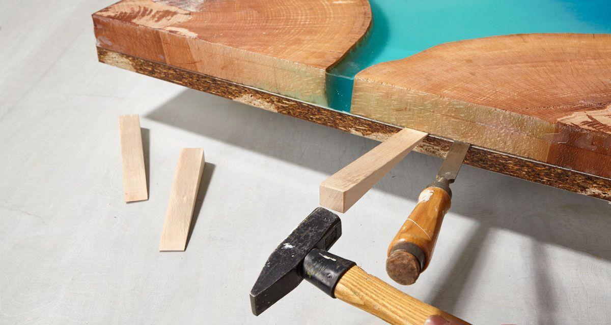 Epoxidharz Tisch Selber Bauen Diy Anleitung Holztisch Tisch Selber Bauen Handgemachte Wohndekoration Tisch Bauen