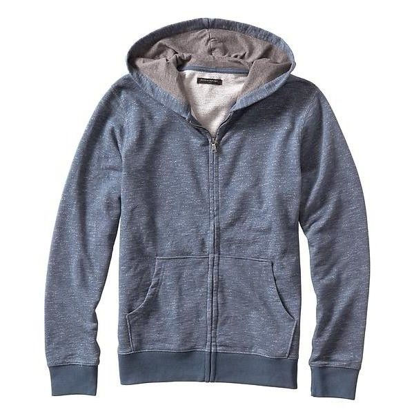 Banana Republic Men Factory Heathered Zip Hoodie ($30) ❤ liked on Polyvore featuring men's fashion, men's clothing, men's hoodies, mens hooded sweatshirts, mens zipper hoodies, mens zip hoodie, mens sweatshirts and hoodies and mens hoodies