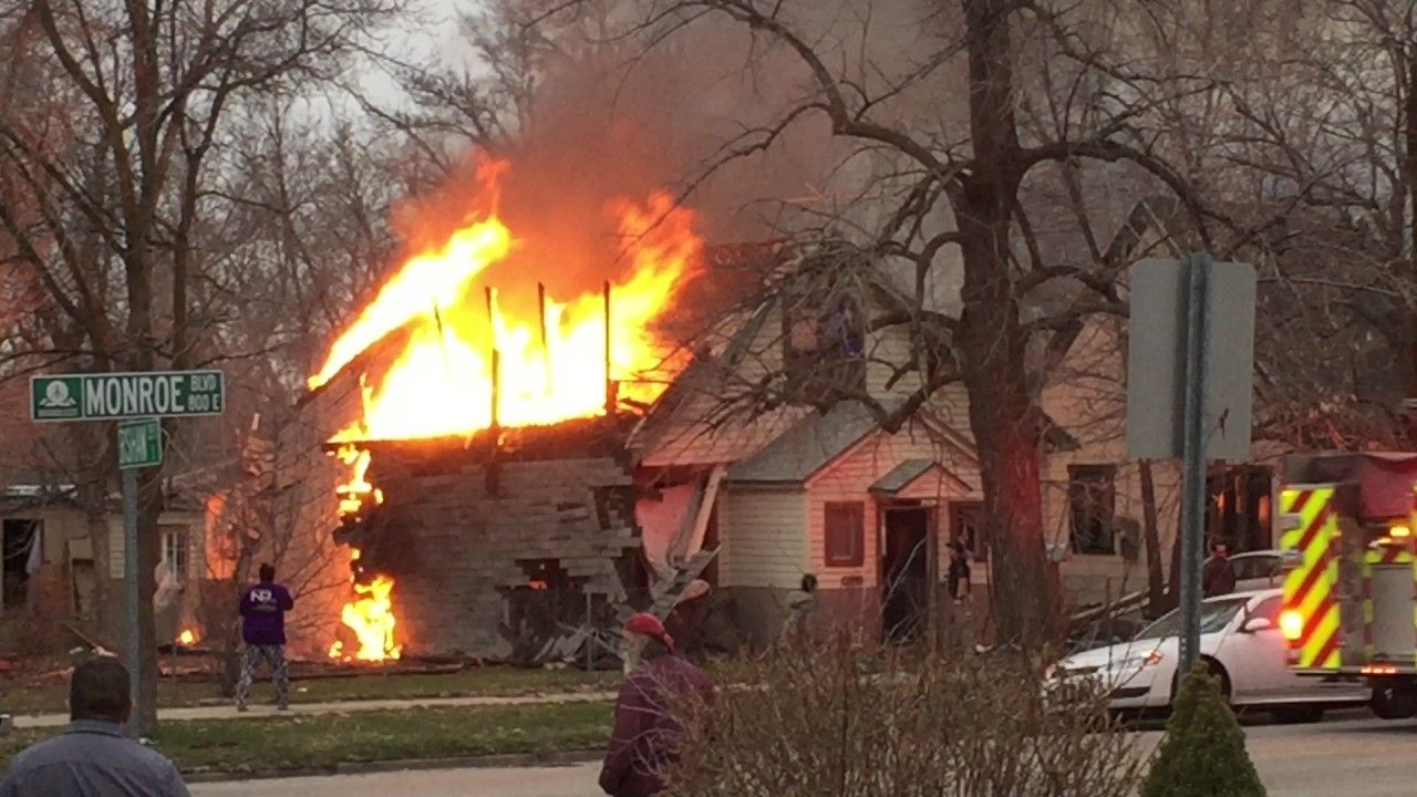 Ogden house fire, post explosion in 2020 Fire