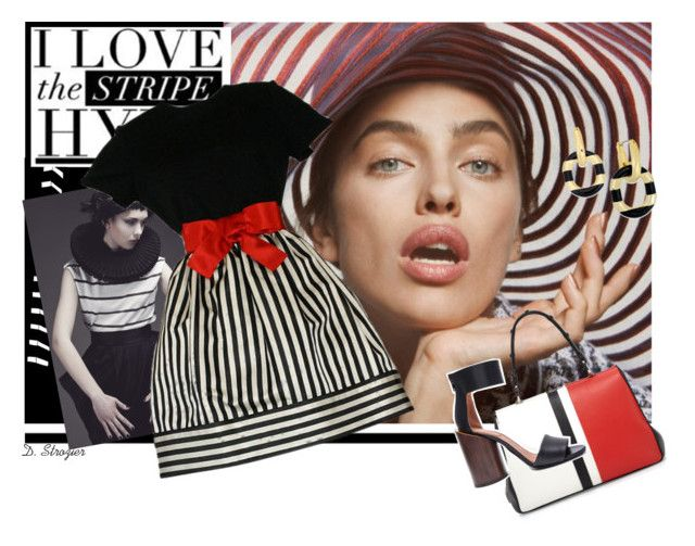 """""""Irina in Stripes"""" by deborah-strozier ❤ liked on Polyvore featuring Bill Blass, Prada, Givenchy, Kate Spade and myfavorite"""