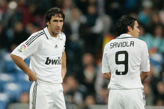 Javier Saviola y Raul