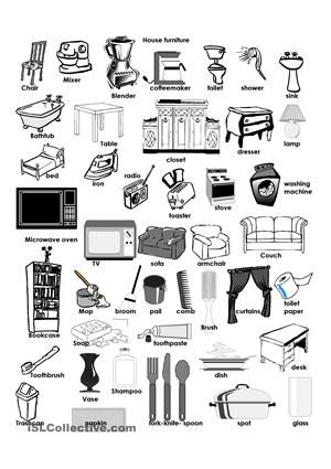 Furniture Design Vocabulary in my house furniture vocabulary matching exercise worksheet icon