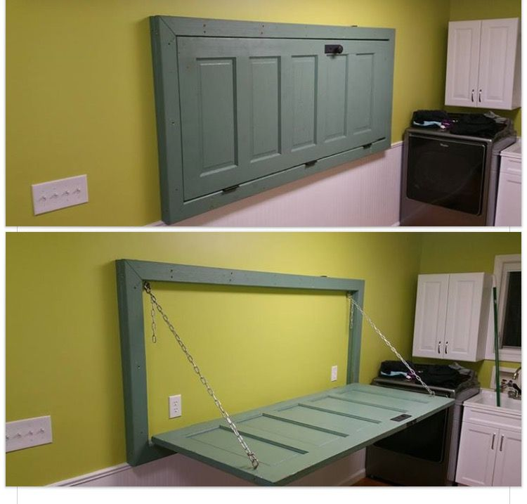 Drop Down Door Table Basement Laundry Room Laundry Room Flooring Laundry Room Remodel