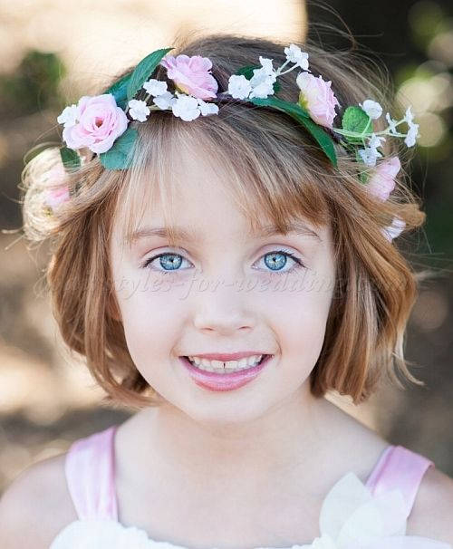 30 Beach Wedding Hairstyles Ideas Designs: Flower+girl+hairstyles,+flowergirl+hairstyles+-+short+bob