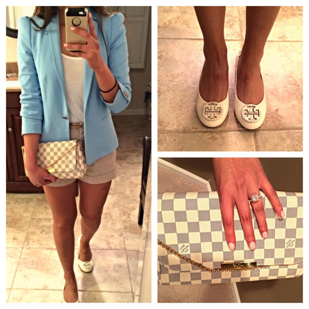 Love the combination of the Louis Vuitton Favorite and the White Tory Burch  Flats. 44528f4543114