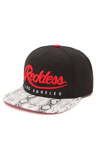 Young & Reckless Script Snake Skin Snapback Hat at PacSun.com