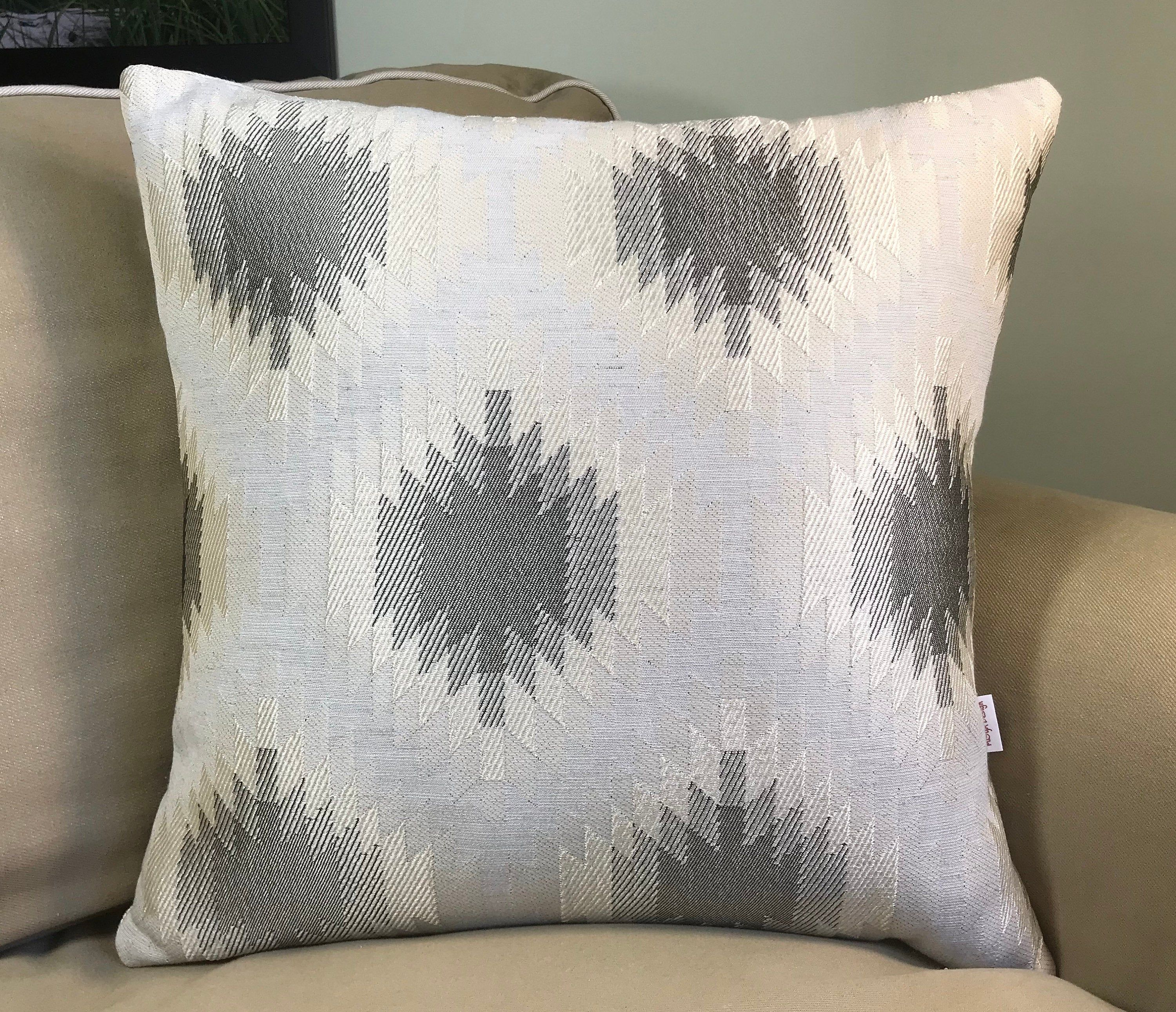 Beige And Grey Double Sided Decorative Pillows Square Decorative Pillow Cover Home Decor Square Pillow Cover Decorative Pillows Decorative Pillow Covers