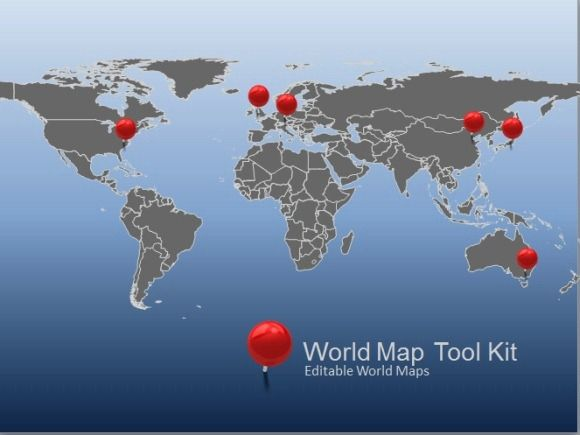 Animated World Map Toolkit For Powerpoint Presentermedia