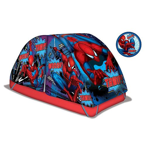 Spider-Man Bed Tent with Push Light - Idea Nuova - Toys   ...  sc 1 st  Pinterest & Spider-Man Bed Tent with Push Light - Idea Nuova - Toys