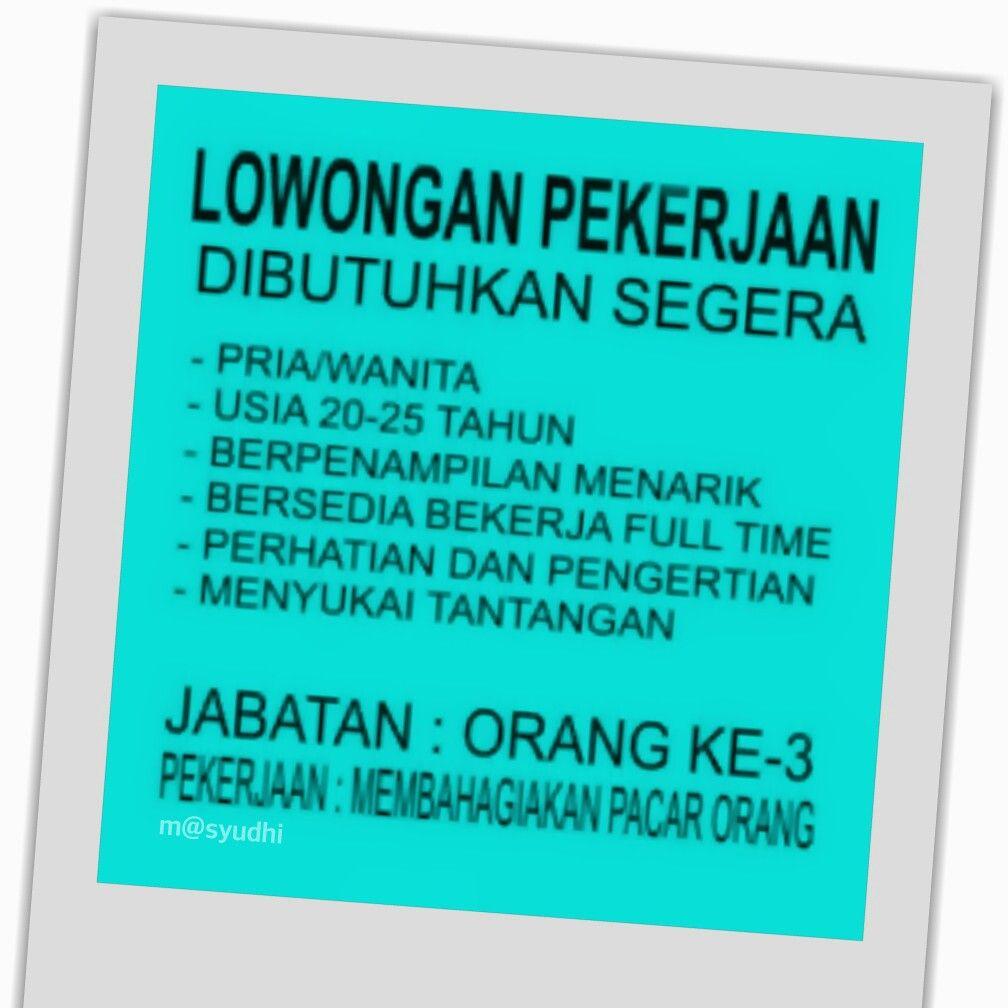 Info Loker LUCU NGAKAK Pinterest