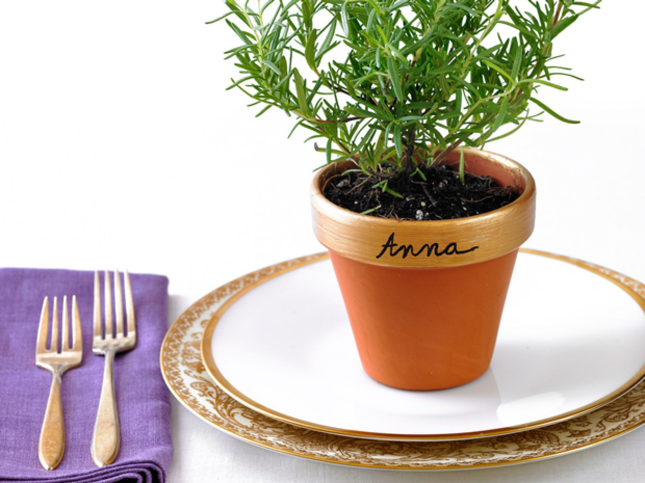 Small Herb Pots Part - 35: Pot Your Own Placeholders : Make Personalized Pots Of Herbs For Place  Settings: Buy Small