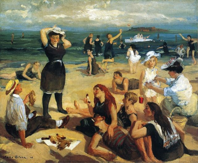 John French Sloan - South Beach Bathers, 1908