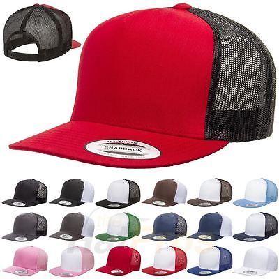 32382fded Flexfit Yupoong Classic Trucker Mesh Hat Blank 5 Panel 6006 6006T ...