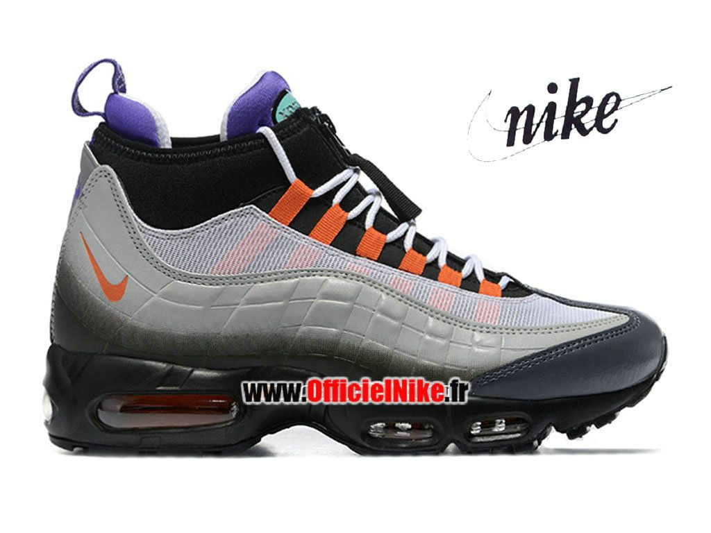 Homme Chaussures Nike Air Max 95 SneakerBoot Noir/Orange éclatant/Volt  806809-078