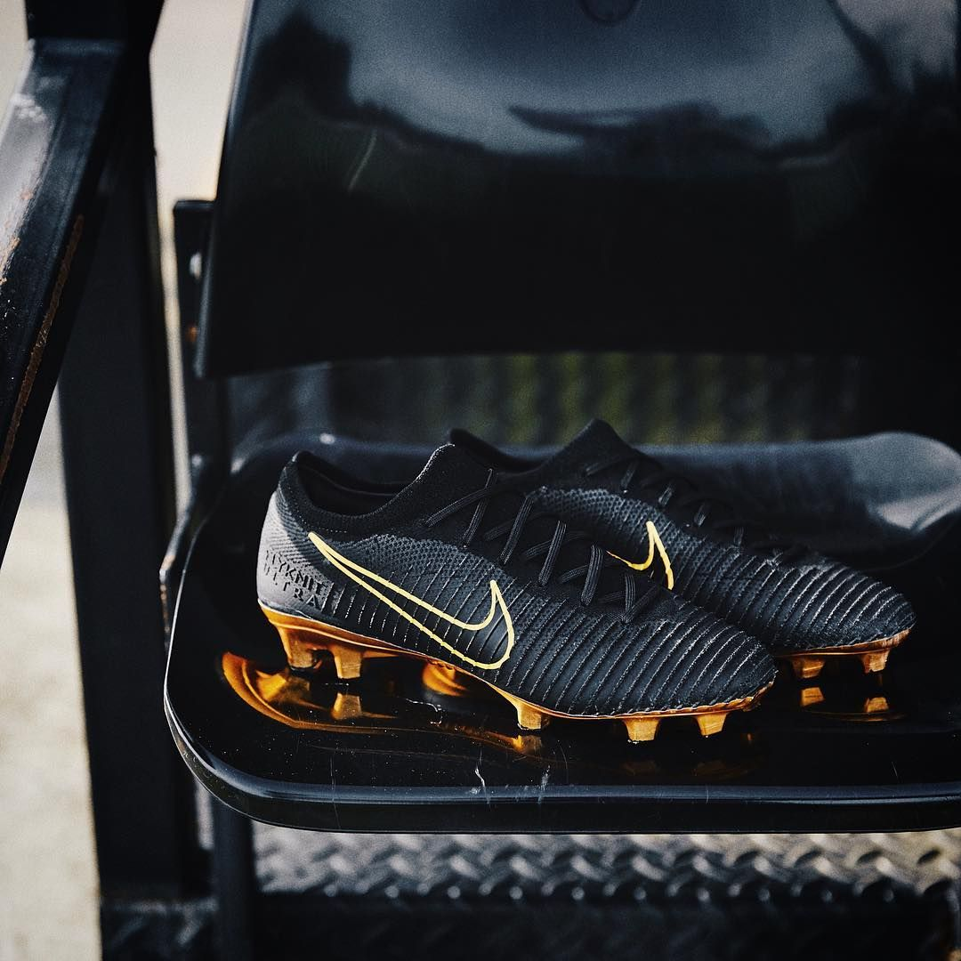 5f92574eb6c nike mercurial vapor flyknit ultra gold and black