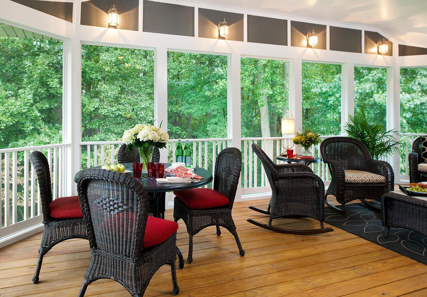 17 best images about elegantly furnished screened in porch on screen porch ideas designs - Screened In Porch Ideas Design