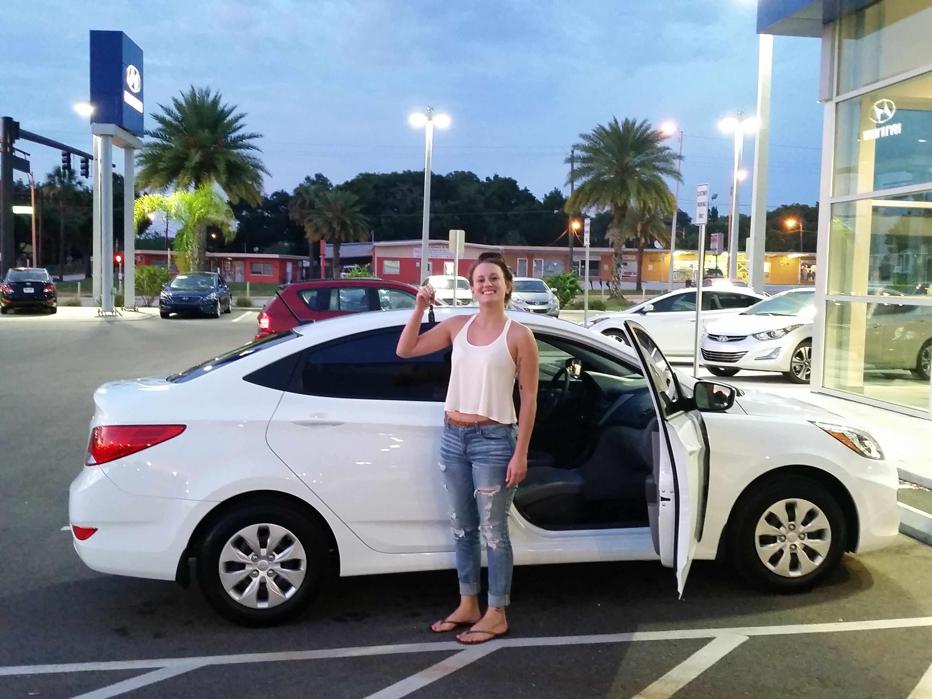 """Kayli, thank you for coming to Lakeland Hyundai to purchase your 2015 Hyundai Accent! Kayli worked with Kenny Swartz during this exceptional experience commenting that """"Kenny did an excellent job with us today! I am a VERY happy customer, all smiles :)"""" We hope you are enjoying your brand new Accent and please, if there's anything we can do, don't hesitate to ask... we're here to help! #LakelandAutomall #LakelandHyundai #HyundaiAccent #2015Accent #Hyundai"""