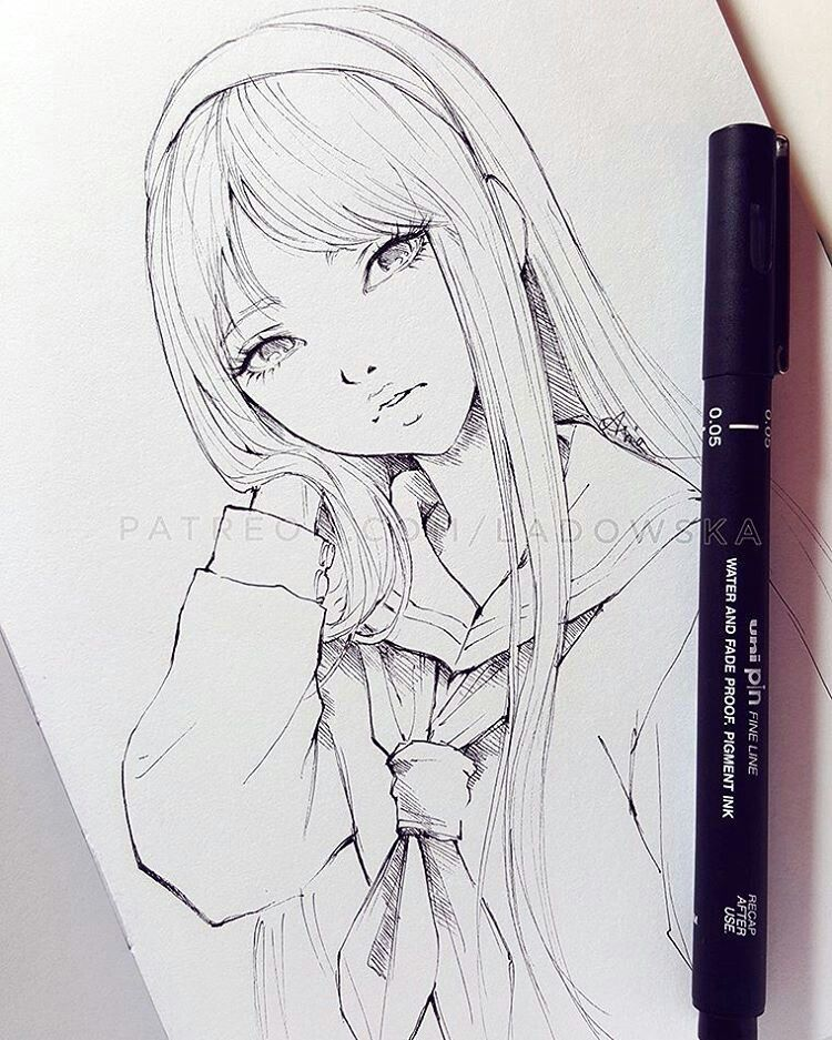 Anime Black And White Anime Drawings Sketches Art Girl Drawing Sketches