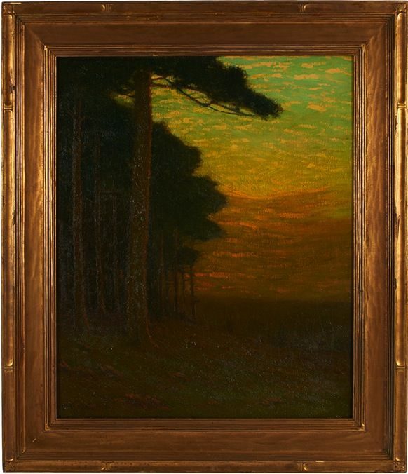 """Charles Warren Eaton, (American, 1857-1937), Summer Twilight, oil on canvas, signed lower left, 24"""" x 20"""" held in a Newcomb-Macklin frame"""