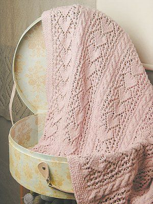 Knit One Crochet Too Patterns Heirloom Hearts Baby Blanket