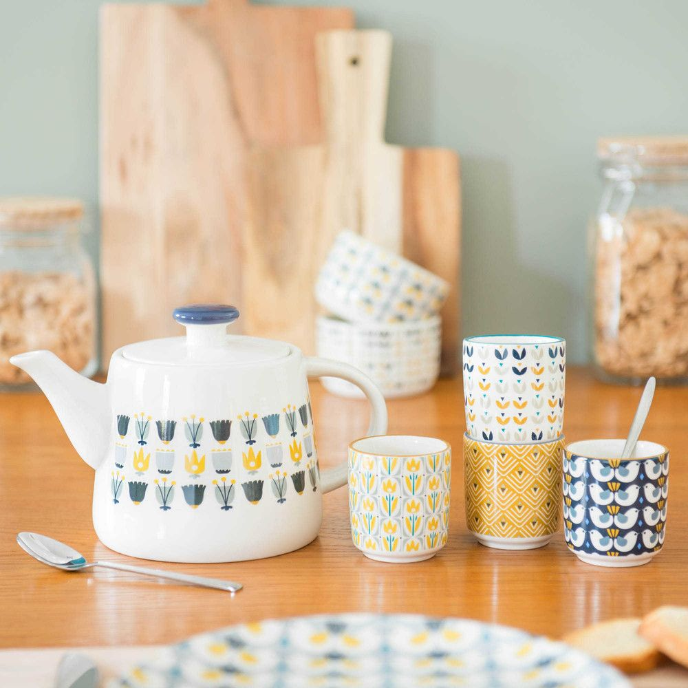 Coffret 4 tasses en fa ence portobello maisons du monde nos recettes maisons du monde - Tasse maison du monde ...