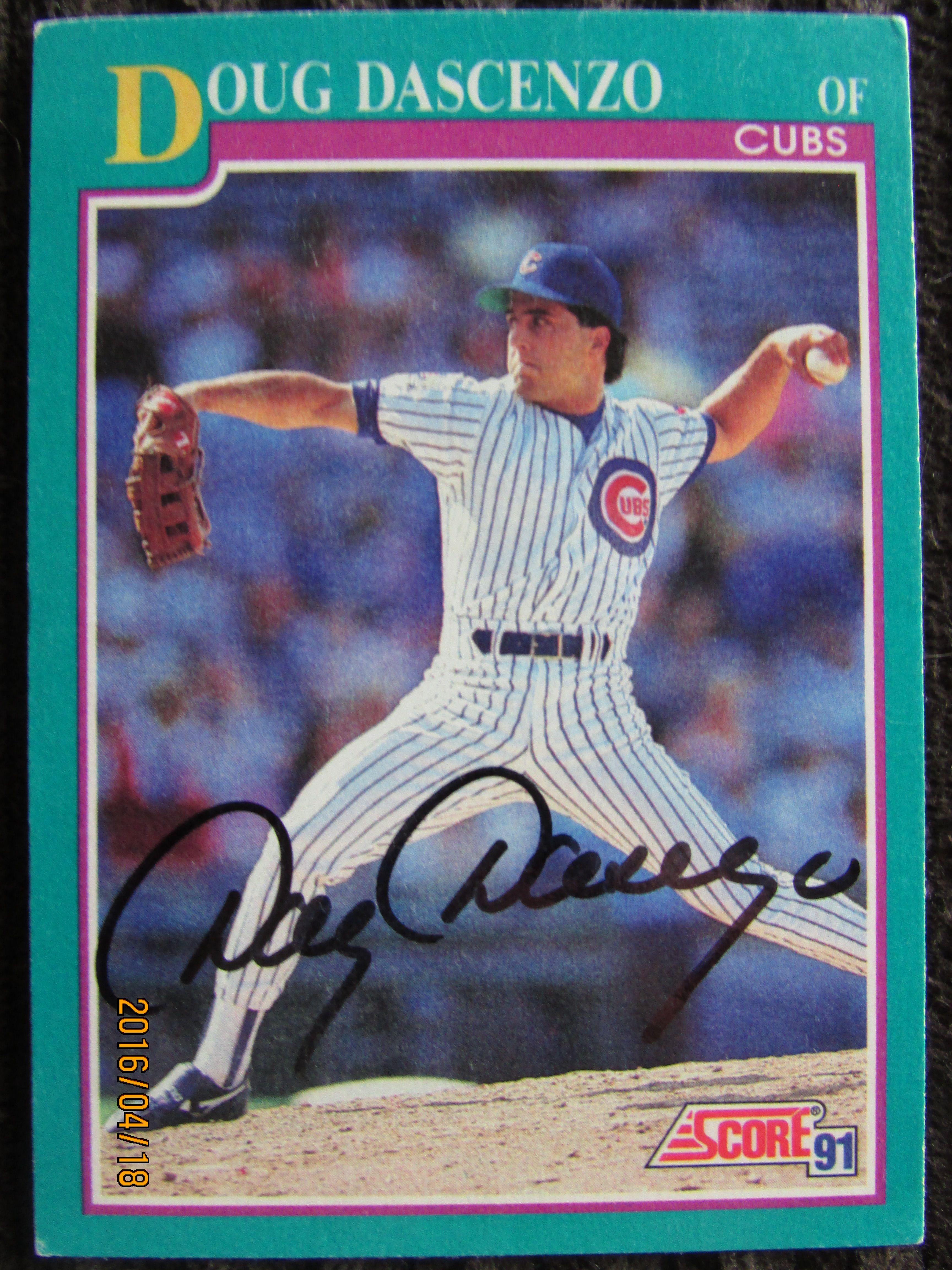 1991 score 209 doug dascenzo ttm baseball cards