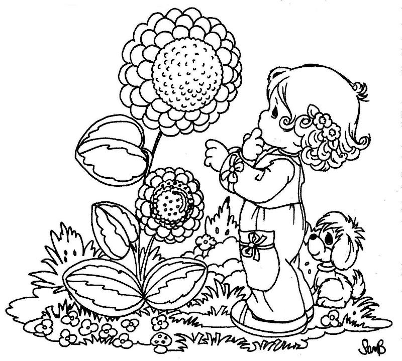 Drawings Of Precious Moments Precious Moments Coloring Pages Spring Coloring Pages Sunflower Coloring Pages