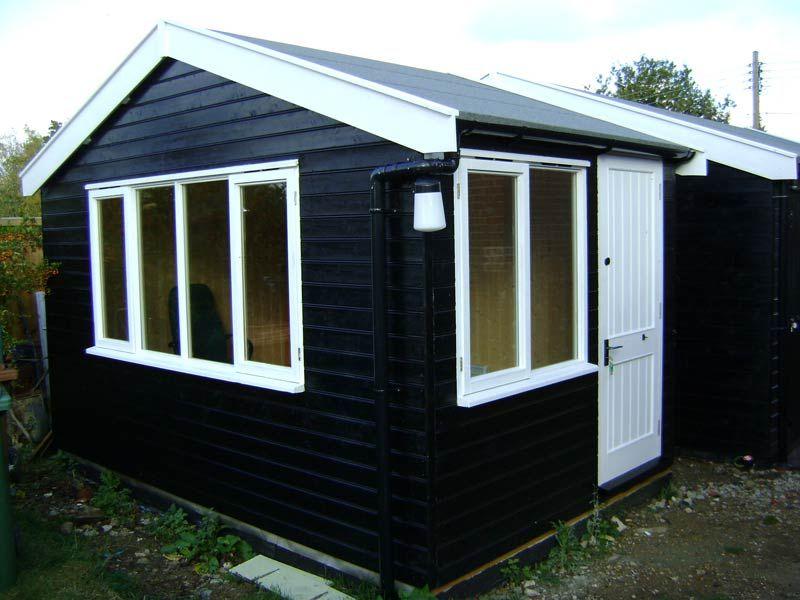matching 5m x 25m office studio matching 6m x 6m black shedsworkshop - Garden Sheds 5m X 3m