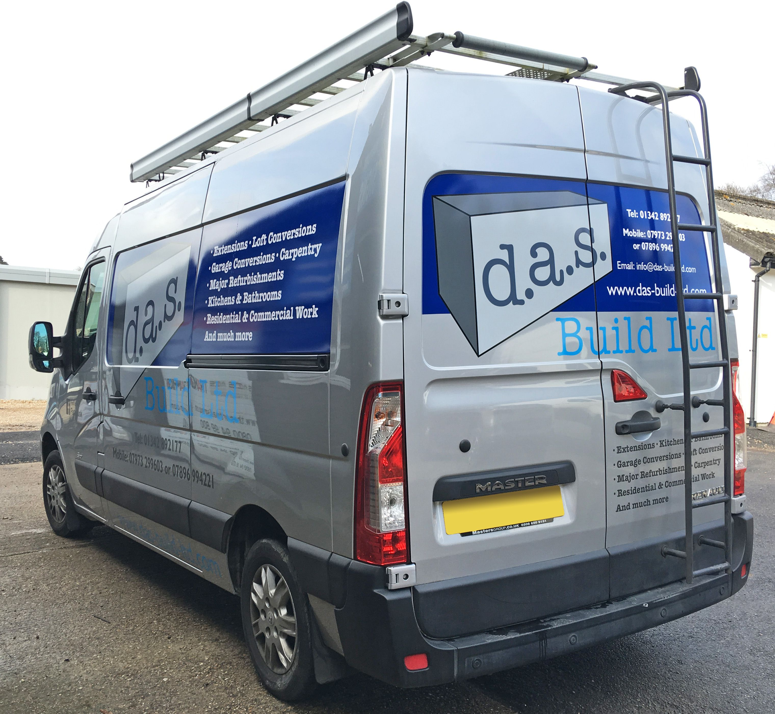 a21b1b691d D.A.S Build Ltd Renault Master van signwriting with wrapped panels ...