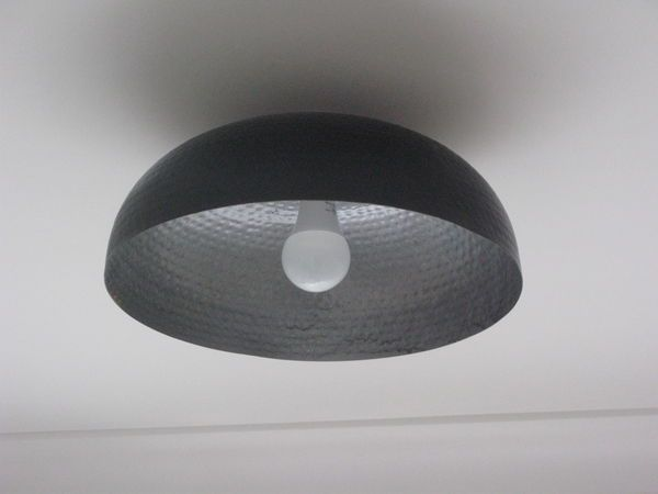 New Industrial Style Lampshade from Kerb Side Throw Out Bowl
