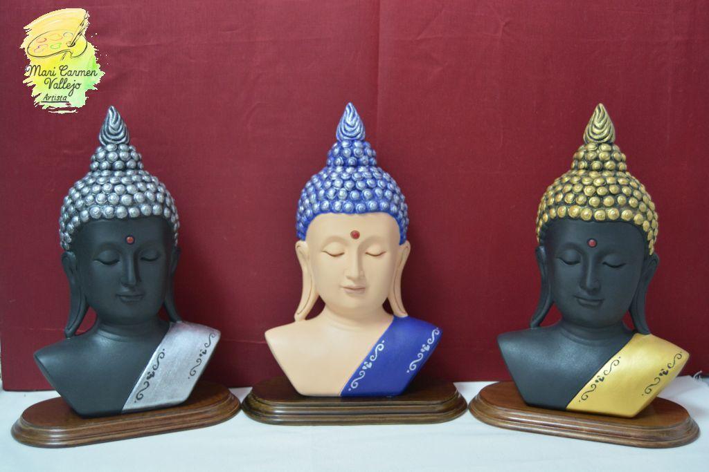 Budas pintados a mano,