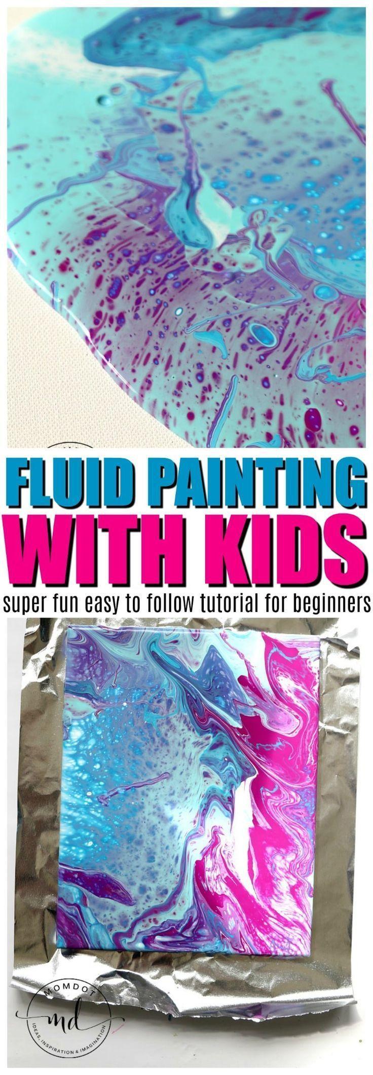 How to fluid paint with kids crafty diy pinterest - Maltechniken kindergarten ...