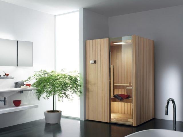 Finnische Sauna AUKI EFFEGIBI Kompakte Größe Modernes Bad
