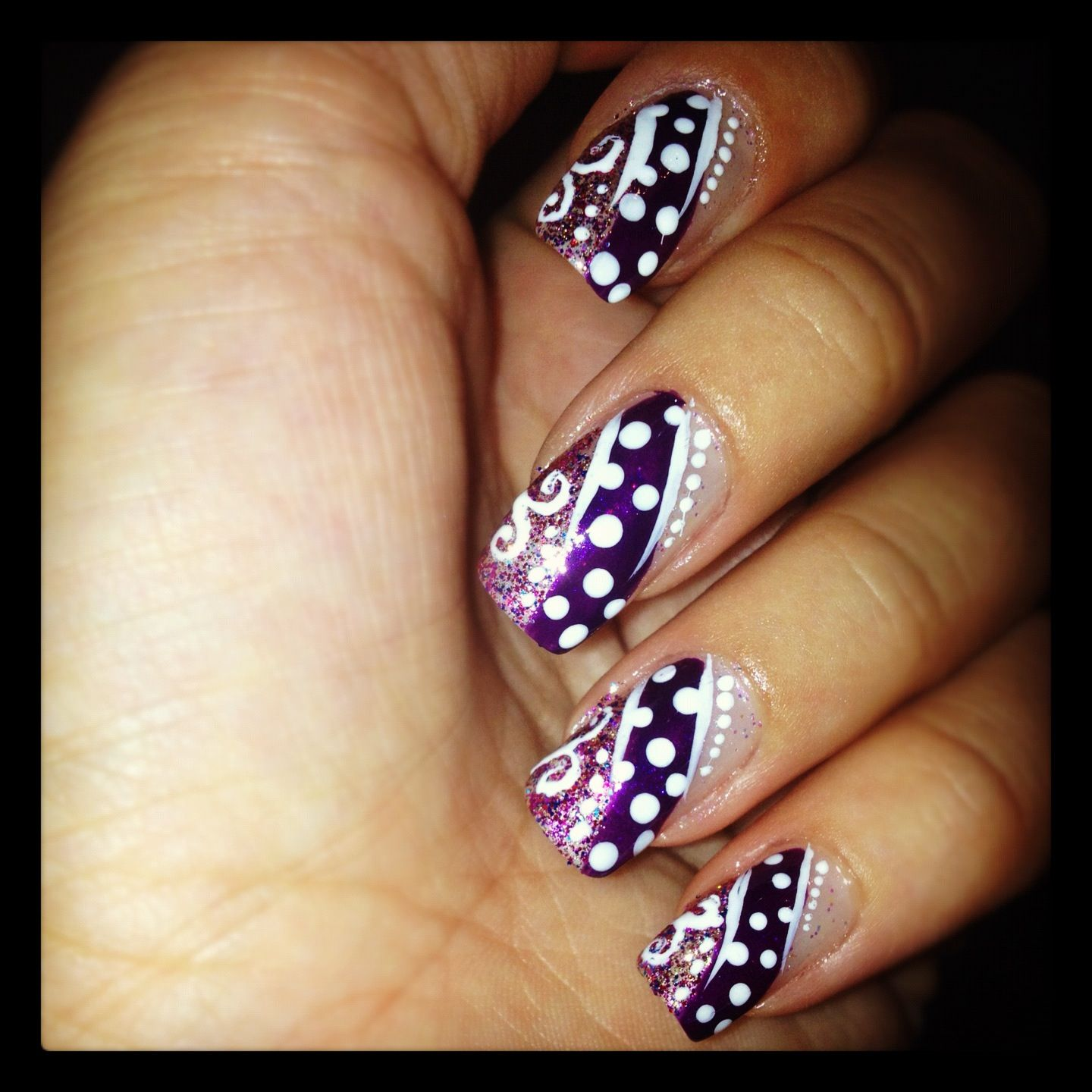 Inspired by the amazing love4nails | Nail art( created by me ...