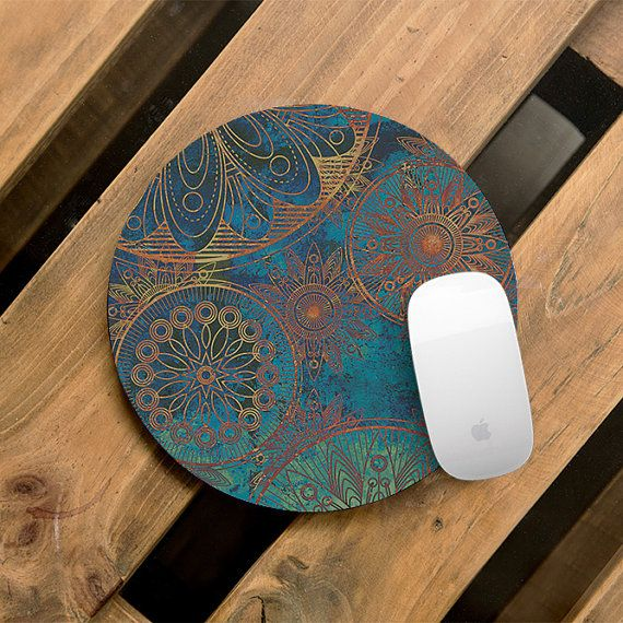 Mandala Mouse Pad Boho Mouse Mat Bohemian Electronics Pads Gift For Teacher MousePad Office Desk Decor Gift for Friend Office Accessories