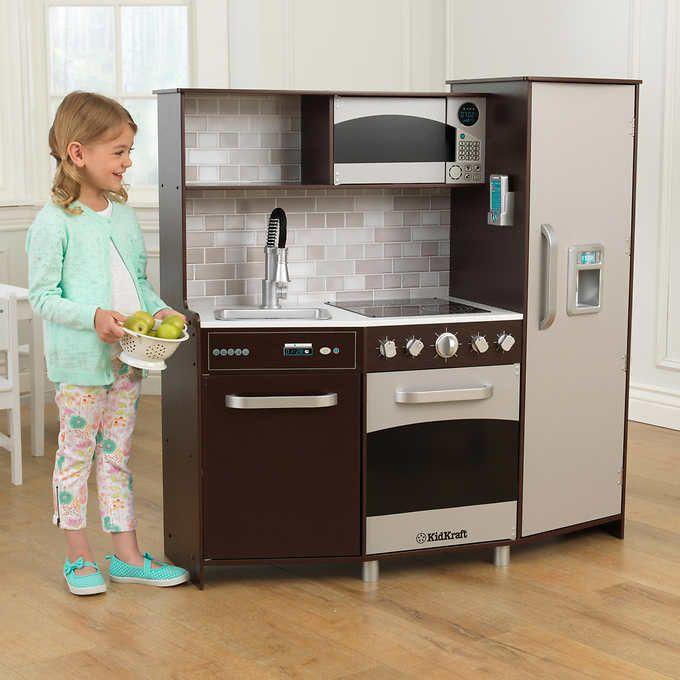 Large Play Kitchen: KidKraft Large Play Kitchen - Espresso