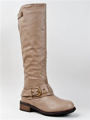 Knee High Buckle Riding Boot