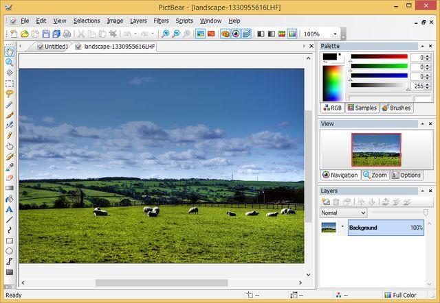 Pictbear Software Gratuito Para Dibujo Y Edicion De Imagenes Landscape Image Navigation