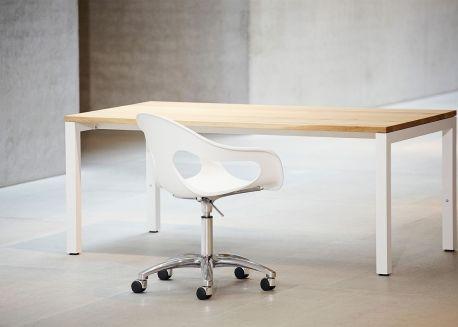 Set De 4 Chaises De Table Modernes En Poplypropylene Noir Sunny Par Jankurtz Chaise De Bureau Design Chaise Bureau Bureau Colore