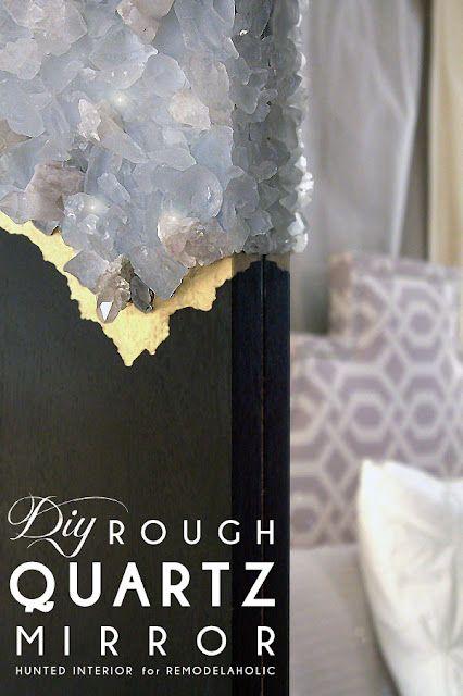 DIY Rough Quartz Mirror Tutorial | Remodelaholic